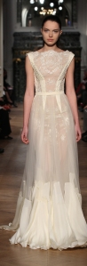 cream color embroidered evening dress by Tony Ward Spring-Summer 2014