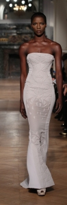 off white evening dress by Tony Ward Spring-Summer 2014