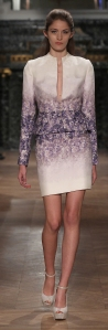 purple floral printed silk costume by Tony Ward Spring-Summer 2014