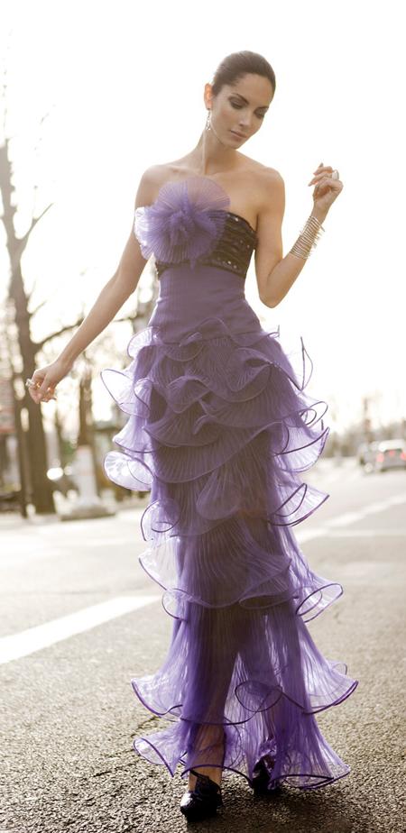 Armani 2008 - Purple ruffles